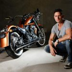 Gold Harley Davidson