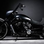 Edgy black Harley Davidson