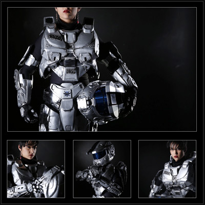 Halo inspired cosplay photograph