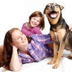 Happy pet and family