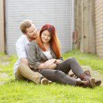 Natural outdoor couple photo