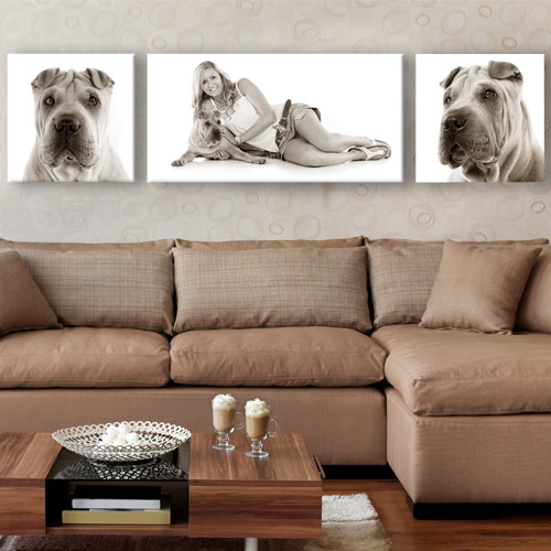 Canvas pet photo artwork