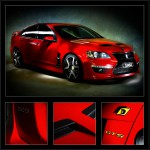 Red Holden GTS car photo