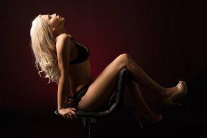 Blonde glamour girl