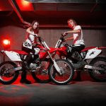 Glamour on dirtbikes
