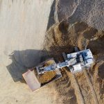 Drone photo of mining