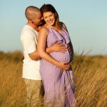 Outdoor pregnancy portrait