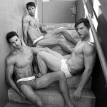 3 Male underwear models