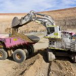 Mining Excavator from drone