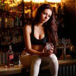 Model in a bar