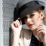 Fashion model in hat