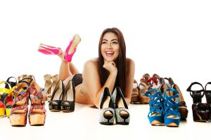Glamour photo with shoes