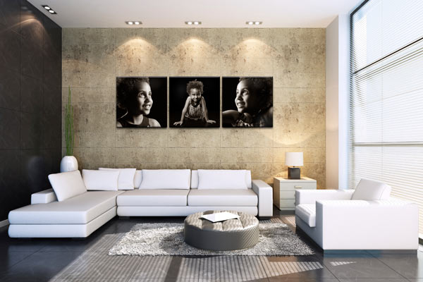 acrylic photo wall set