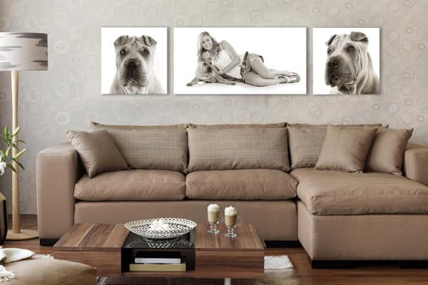 Canvas photo wall set