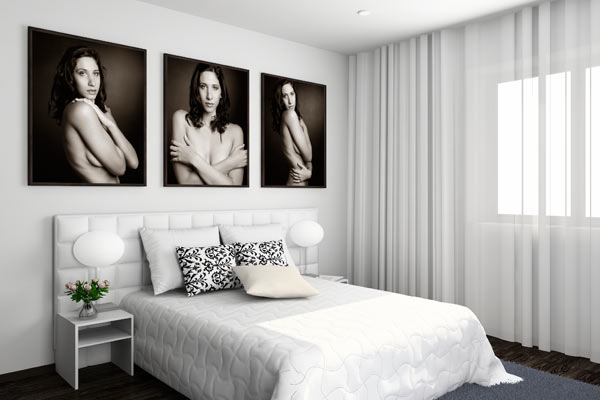 Boudoir photography wall art